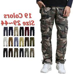 Match Mens Pants Casual Camo Work Hunting Cargo Pants Trouse